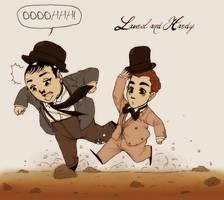 Laurel and Hardy by dwightyoakamfan