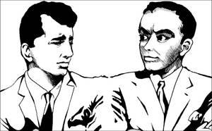 .old sketch. Dean and Frank by dwightyoakamfan