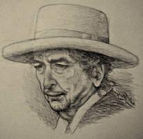 Bob Dylan Pencil Sketch by dwightyoakamfan