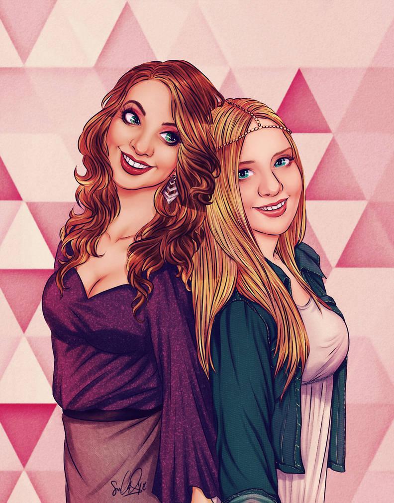 Author Portrait -- Brooke Blaine and Ella Frank by dwightyoakamfan