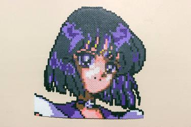 Perler: Sailor Saturn by AmayaMarieSuta