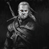Geralt of Rivia by QuangHoang