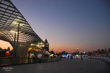 Sunset Stroll in Shanghai by nicoleshen