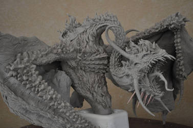 Dragon diorama WIP 2 by AntWatkins