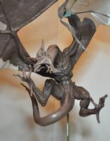 Wyvern dragon diorama WIP by AntWatkins