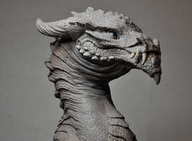 Goliath Dragon Bust Creature WIP by AntWatkins
