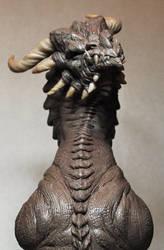 Corruptor Dragon 3 Demon bust Monster Clay by AntWatkins