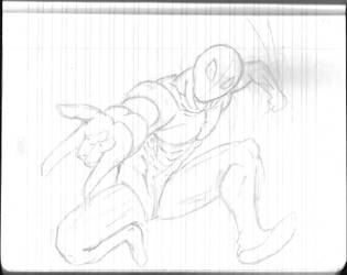 Daily Sketchbook Practice 02 - Spiderman by Mega-Charizar