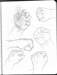 Daily Sketchbook Practice 04 - Hands! by Mega-Charizar