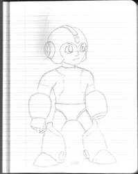Daily Sketchbook Practice 08 - Megaman by Mega-Charizar