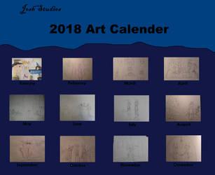 Art Calender 2018 by JoshStudios
