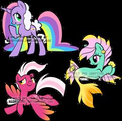 random pony adoptables by Sakuyamon