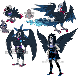 Digimon Raven Adoptable by Sakuyamon