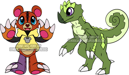 Digimon Rookie Adoptables 3 by Sakuyamon