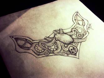 Nautical Neck Piece Sketch by StormbloodCurio