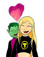 Beast Boy and Terra by Crazywolf1197