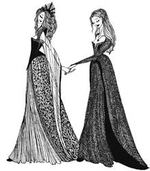 Margaery and Sansa by cabins