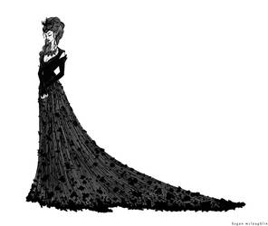 Margaery in mourning by cabins
