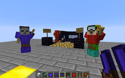 beta statues in lunstudios server by bxconsmh