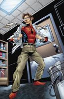 Spidey in storage room by HillmanArts