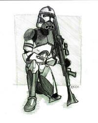 Clone Trooper Sketch by Egek