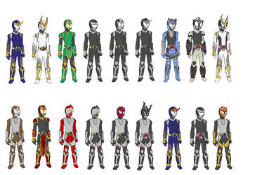 Gaim OFFICIAL Riders Base Suit Set by piplupm
