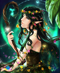 Request from TranquilCreation - Elf Druid by NeKoruu
