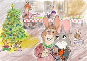 Zootopia postcard Bonnie and Stu by MurLik