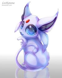 =Pokemon= Chibi Espeon by LeoKatana