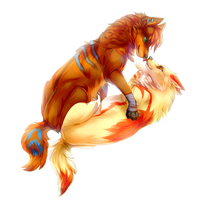 {Commission} - Zulei and Maple by LeoKatana