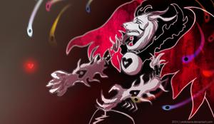 =Undertale= Asriel Dreemurr (Demon mode) by LeoKatana