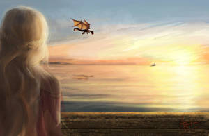 Daenerys and Drogon by Astarsia