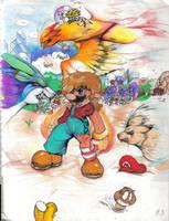 Mario battle Prisma by Rafeal