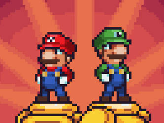 Mario and Luigi by blaner