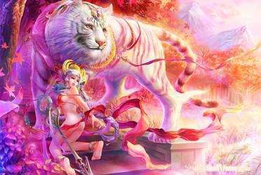 FOUR SYMBOLS-WHITE TIGER by shawli2007