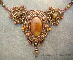 Beadwoven Jasper Necklace by Beadmask