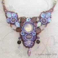Amethyst Garden Necklace by Beadmask