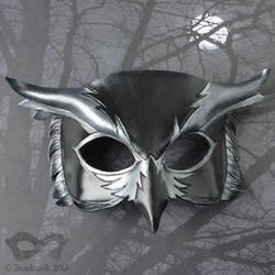 Nightowl Leather Mask by Beadmask