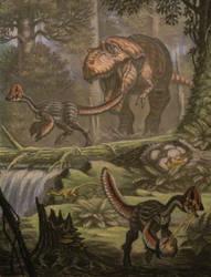 Albertosaurus, Chirostenotes. by ABelov2014