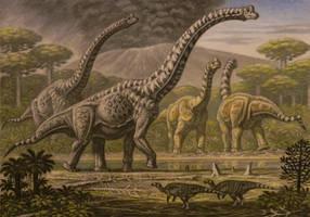 Brachiosaurus, Camarasaurus. by ABelov2014