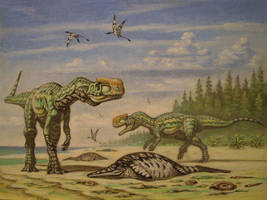Monolophosaurus. by ABelov2014