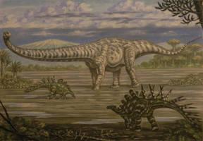 Mamenchisaurus, Chialingosaurus. by ABelov2014