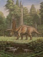 Pentaceratops, Parksosaurus. by ABelov2014
