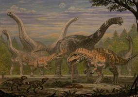 Acrocanthosaurus (Sauroposeidon, Astrodon). by ABelov2014
