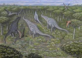 Pterosauria, Rhamphorhynchoidea. by ABelov2014