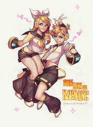 Kagamine Rin and Len [Speedpainting] by MinemikoMali