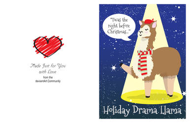 The Holiday Drama Llama by Pooky-di-Bear