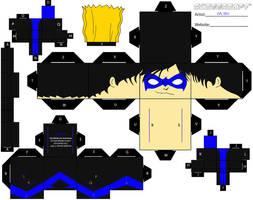 Nightwing Cubee by Da-BEv