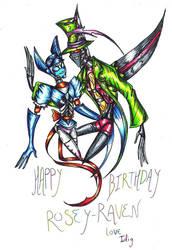 Happy Birthday Rosey Raven by Idigoddpairings