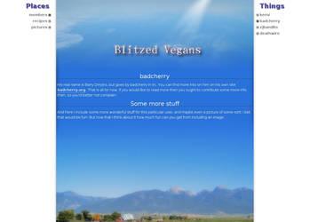 Blitzedvegans.org Version 2 by badcherry